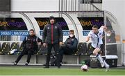 17 April 2021; Dundalk coach Filippo Giovagnoli looks on from the dugout during the SSE Airtricity League Premier Division match between Dundalk and St Patrick's Athletic at Oriel Park in Dundalk, Louth. Photo by Stephen McCarthy/Sportsfile