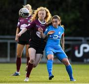 17 April 2021; Therese Kinnevey of Galway Women in action against Rachel Doyle of DLR Waves during the SSE Airtricity Women's National League match between DLR Waves and Galway Women at UCD Bowl in Belfield, Dublin. Photo by Matt Browne/Sportsfile