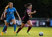 17 April 2021; Rachel Kearns of Galway Women in action against Niamh Prior of DLR Waves during the SSE Airtricity Women's National League match between DLR Waves and Galway Women at UCD Bowl in Belfield, Dublin. Photo by Matt Browne/Sportsfile