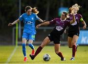 17 April 2021; Ellie O'Flaherty of Galway Women in action against Shauna Carroll of DLR Waves during the SSE Airtricity Women's National League match between DLR Waves and Galway Women at UCD Bowl in Belfield, Dublin. Photo by Matt Browne/Sportsfile