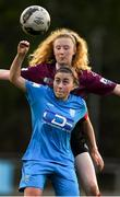 17 April 2021; Rachel Doyle of DLR Waves in action against Therese Kinnevey of Galway Women during the SSE Airtricity Women's National League match between DLR Waves and Galway Women at UCD Bowl in Belfield, Dublin. Photo by Matt Browne/Sportsfile