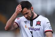17 April 2021; Patrick Hoban of Dundalk reacts after his side's draw in the SSE Airtricity League Premier Division match between Dundalk and St Patrick's Athletic at Oriel Park in Dundalk, Louth. Photo by Ben McShane/Sportsfile