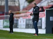 17 April 2021; Finn Harps manager Ollie Horgan during the SSE Airtricity League Premier Division match between Sligo Rovers and Finn Harps at The Showgrounds in Sligo. Photo by Piaras Ó Mídheach/Sportsfile