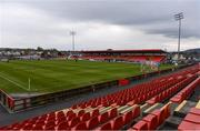 17 April 2021; A general view of the ground before the SSE Airtricity League Premier Division match between Sligo Rovers and Finn Harps at The Showgrounds in Sligo. Photo by Piaras Ó Mídheach/Sportsfile