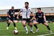 17 April 2021; Patrick Hoban of Dundalk and Sam Bone of St Patrick's Athletic during the SSE Airtricity League Premier Division match between Dundalk and St Patrick's Athletic at Oriel Park in Dundalk, Louth. Photo by Ben McShane/Sportsfile