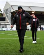 17 April 2021; Dundalk coach Filippo Giovagnoli leaves the pitch after his side's draw in the SSE Airtricity League Premier Division match between Dundalk and St Patrick's Athletic at Oriel Park in Dundalk, Louth. Photo by Ben McShane/Sportsfile
