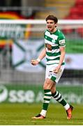 17 April 2021; Sean Gannon of Shamrock Rovers celebrates after scoring his side's second goal during the SSE Airtricity League Premier Division match between Shamrock Rovers and Longford Town at Tallaght Stadium in Dublin. Photo by Eóin Noonan/Sportsfile