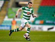 17 April 2021; Sean Kavanagh of Shamrock Rovers during the SSE Airtricity League Premier Division match between Shamrock Rovers and Longford Town at Tallaght Stadium in Dublin. Photo by Eóin Noonan/Sportsfile