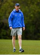 19 April 2021; Head coach Leo Cullen during Leinster rugby squad training at UCD in Dublin. Photo by Brendan Moran/Sportsfile