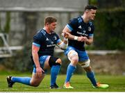 19 April 2021; Tadhg Furlong, left, and James Ryan during Leinster rugby squad training at UCD in Dublin. Photo by Brendan Moran/Sportsfile