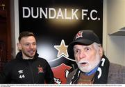 14 February 2020; Dundalk FC Chairman Bill Hulsizer, right, and Andy Boyle after the SSE Airtricity League Premier Division match between Dundalk and Derry City at Oriel Park in Dundalk, Louth. Photo by Ciarán Culligan/Sportsfile Photo by Stephen McCarthy/Sportsfile