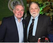 13 February 2020; Former Republic of Ireland international Ray Houghton and Dundalk FC Chairman Bill Hulsizer, right, during the National Football Exhibition Launch at the County Museum in Dundalk, Co Louth. Photo by Ciarán Culligan/Sportsfile
