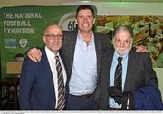 13 February 2020; Dundalk FC Chief Operating Officer Martin Connolly, left, former Republic of Ireland international and current FAI Interim Deputy Chief Executive Niall Quinn and Dundalk FC Chairman Bill Hulsizer, right, during the National Football Exhibition Launch at the County Museum in Dundalk, Co Louth. Photo by Ciarán Culligan/Sportsfile
