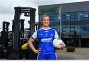 19 April 2021; Combilift, a leading global player in the field of materials handling, is also now getting involved on the sports field at a much more local level. The company has committed to a new 3-year sponsorship deal with the Monaghan Ladies football team as well as sponsoring the Monaghan senior club championship. The Combilift logo will now be prominent on both home and away jerseys, as well as all items of the team's training gear. Combilift will support the Monaghan LGFA teams both on and off the field, and at all levels from juveniles right through to seniors. In attendance at the launch at Combilift is Monaghan player Ellen McCarron. Photo by Philip Fitzpatrick/Sportsfile ***NO REPRODUCTION FEE***