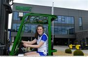 19 April 2021; Combilift, a leading global player in the field of materials handling, is also now getting involved on the sports field at a much more local level. The company has committed to a new 3-year sponsorship deal with the Monaghan Ladies football team as well as sponsoring the Monaghan senior club championship. The Combilift logo will now be prominent on both home and away jerseys, as well as all items of the team's training gear. Combilift will support the Monaghan LGFA teams both on and off the field, and at all levels from juveniles right through to seniors. In attendance at the launch at Combilift is Monaghan player Lauren Garland. Photo by Philip Fitzpatrick/Sportsfile ***NO REPRODUCTION FEE***