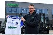 19 April 2021; Combilift, a leading global player in the field of materials handling, is also now getting involved on the sports field at a much more local level. The company has committed to a new 3-year sponsorship deal with the Monaghan Ladies football team as well as sponsoring the Monaghan senior club championship. The Combilift logo will now be prominent on both home and away jerseys, as well as all items of the team's training gear. Combilift will support the Monaghan LGFA teams both on and off the field, and at all levels from juveniles right through to seniors. In attendance at the launch at Combilift is Combilift CEO Martin Mc Vicar. Photo by Philip Fitzpatrick/Sportsfile