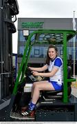 19 April 2021; Combilift, a leading global player in the field of materials handling, is also now getting involved on the sports field at a much more local level. The company has committed to a new 3-year sponsorship deal with the Monaghan Ladies football team as well as sponsoring the Monaghan senior club championship. The Combilift logo will now be prominent on both home and away jerseys, as well as all items of the team's training gear. Combilift will support the Monaghan LGFA teams both on and off the field, and at all levels from juveniles right through to seniors. In attendance at the launch at Combilift is Monaghan player Lauren Garland. Photo by Philip Fitzpatrick/Sportsfile