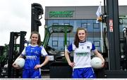 19 April 2021; Combilift, a leading global player in the field of materials handling, is also now getting involved on the sports field at a much more local level. The company has committed to a new 3-year sponsorship deal with the Monaghan Ladies football team as well as sponsoring the Monaghan senior club championship. The Combilift logo will now be prominent on both home and away jerseys, as well as all items of the team's training gear. Combilift will support the Monaghan LGFA teams both on and off the field, and at all levels from juveniles right through to seniors. In attendance at the launch at Combilift are Monaghan players and sisters Lauren Garland, left, and Amy Garland. Photo by Philip Fitzpatrick/Sportsfile