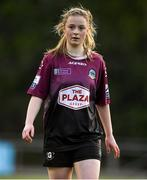 17 April 2021; Aoife Thompson of Galway Women during the SSE Airtricity Women's National League match between DLR Waves and Galway Women at UCD Bowl in Belfield, Dublin. Photo by Matt Browne/Sportsfile