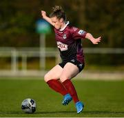 17 April 2021; Lynsey McKey of Galway Women during the SSE Airtricity Women's National League match between DLR Waves and Galway Women at UCD Bowl in Belfield, Dublin. Photo by Matt Browne/Sportsfile