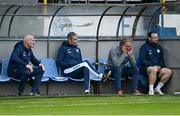 23 April 2021; Finn Harps manager Ollie Horgan, second from right, during the SSE Airtricity League Premier Division match between Finn Harps and St Patrick's Athletic at Finn Park in Ballybofey, Donegal. Photo by Piaras Ó Mídheach/Sportsfile