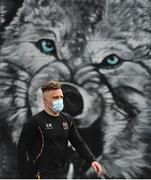23 April 2021; Ian Madigan of Ulster arrives prior to the Guinness PRO14 Rainbow Cup match between Ulster and Connacht at the Kingspan Stadium in Belfast. Photo by David Fitzgerald/Sportsfile