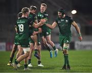 23 April 2021; Niall Murray, left, and Ultan Dillane of Connacht celebrate their side's victory in the Guinness PRO14 Rainbow Cup match between Ulster and Connacht at the Kingspan Stadium in Belfast. Photo by David Fitzgerald/Sportsfile