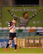 23 April 2021; James Finnerty of Bohemians leaves the pitch after being shown a red card by referee Paul McLaughlin during the SSE Airtricity League Premier Division match between Shamrock Rovers and Bohemians at Tallaght Stadium in Dublin. Photo by Eóin Noonan/Sportsfile
