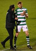 23 April 2021; Shamrock Rovers manager Stephen Bradley with Rory Gaffney of Shamrock Rovers after the SSE Airtricity League Premier Division match between Shamrock Rovers and Bohemians at Tallaght Stadium in Dublin. Photo by Eóin Noonan/Sportsfile
