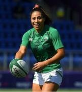 24 April 2021; Sene Naoupu of Ireland during the warm-up before the Women's Six Nations Rugby Championship Play-off match between Ireland and Italy at Energia Park in Dublin. Photo by Matt Browne/Sportsfile