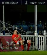 24 April 2021; CJ Stander of Munster makes a phone call following his side's victory in the Guinness PRO14 Rainbow Cup match between Leinster and Munster at the RDS Arena in Dublin. Photo by Piaras Ó Mídheach/Sportsfile