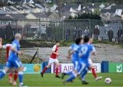 23 April 2021; Spectators look on from outside the ground during the SSE Airtricity League Premier Division match between Finn Harps and St Patrick's Athletic at Finn Park in Ballybofey, Donegal. Photo by Piaras Ó Mídheach/Sportsfile