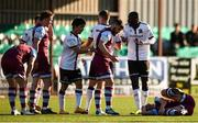 24 April 2021; Wilfred Zahibo of Dundalk protests after a tackle on Killian Phillips of Drogheda United during the SSE Airtricity League Premier Division match between Dundalk and Drogheda United at Oriel Park in Dundalk, Louth. Photo by Ben McShane/Sportsfile