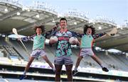 26 April 2021; Kellogg's GAA Cúl Camps ambassador and Mayo footballer Cillian O'Connor with brothers Paddy, age 13, left, and Tom Nolan, age 10, of St Brigids GAA Club in Castleknock, Dublin, at the launch of the 2021 Kellogg's GAA Cúl Camps, in Croke Park, Dublin, as Kellogg celebrates the 10th year of the sponsorship. Starting on 28th June and running up to 27th August, the Kellogg's GAA Cúl Camps offer children a healthy, fun and safe summer outdoor activity. For more information and to book now, visit www.gaa.ie/kelloggsculcamps. Photo by Stephen McCarthy/Sportsfile