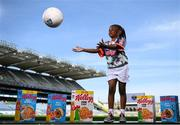 26 April 2021; Adriana Fayiah at the launch of the 2021 Kellogg's GAA Cúl Camps, in Croke Park, Dublin, as Kellogg celebrates the 10th year of the sponsorship. Starting on 28th June and running up to 27th August, the Kellogg's GAA Cúl Camps offer children a healthy, fun and safe summer outdoor activity. For more information and to book now, visit www.gaa.ie/kelloggsculcamps. Photo by Stephen McCarthy/Sportsfile