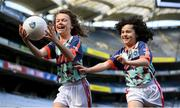 26 April 2021; Brothers Paddy, age 13, left, and Tom Nolan, age 10, of St Brigids GAA Club in Castleknock, Dublin, at the launch of the 2021 Kellogg's GAA Cúl Camps, in Croke Park, Dublin, as Kellogg celebrates the 10th year of the sponsorship. Starting on 28th June and running up to 27th August, the Kellogg's GAA Cúl Camps offer children a healthy, fun and safe summer outdoor activity. For more information and to book now, visit www.gaa.ie/kelloggsculcamps. Photo by Stephen McCarthy/Sportsfile