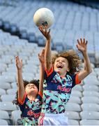 26 April 2021; Brothers Paddy, age 13, right, and Tom Nolan, age 10, of St Brigids GAA Club in Castleknock, Dublin, at the launch of the 2021 Kellogg's GAA Cúl Camps, in Croke Park, Dublin, as Kellogg celebrates the 10th year of the sponsorship. Starting on 28th June and running up to 27th August, the Kellogg's GAA Cúl Camps offer children a healthy, fun and safe summer outdoor activity. For more information and to book now, visit www.gaa.ie/kelloggsculcamps. Photo by Stephen McCarthy/Sportsfile