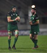 23 April 2021; Ultan Dillane, left, and Matthew Burke of Connacht during the Guinness PRO14 Rainbow Cup match between Ulster and Connacht at Kingspan Stadium in Belfast. Photo by David Fitzgerald/Sportsfile