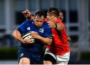 24 April 2021; Ed Byrne of Leinster in action against CJ Stander of Munster during the Guinness PRO14 Rainbow Cup match between Leinster and Munster at RDS Arena in Dublin. Photo by Sam Barnes/Sportsfile
