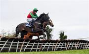 27 April 2021; Echoes in Rain, with Patrick Mullins up, clear the last on their way to winning the eCOMM Merchant Solutions Champion Novice Hurdle during day one of the Punchestown Festival at Punchestown Racecourse in Kildare. Photo by David Fitzgerald/Sportsfile