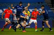 24 April 2021; Hugh O'Sullivan of Leinster during the Guinness PRO14 Rainbow Cup match between Leinster and Munster at RDS Arena in Dublin. Photo by Piaras Ó Mídheach/Sportsfile