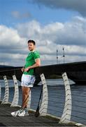 29 April 2021; Different Backgrounds; One Association - Dan Morrissey of Limerick alongside the river Shannon at Thomond Bridge near King John's Castle in Limerick as part of the GPA's Return to Play event to mark the first season where all senior inter-county players are part of the one player association. Photo by Brendan Moran/Sportsfile
