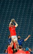24 April 2021; Peter O'Mahony of Munster takes possession in a line-out during the Guinness PRO14 Rainbow Cup match between Leinster and Munster at the RDS Arena in Dublin. Photo by Stephen McCarthy/Sportsfile