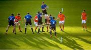 24 April 2021; James Ryan of Leinster takes possession in a line-out ahead during the Guinness PRO14 Rainbow Cup match between Leinster and Munster at the RDS Arena in Dublin. Photo by Stephen McCarthy/Sportsfile