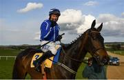 29 April 2021; Jockey Paul Townend and Energumene after winning the Ryanair Novice Steeplechase during day three of the Punchestown Festival at Punchestown Racecourse in Kildare. Photo by Harry Murphy/Sportsfile