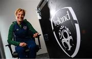 30 April 2021; Republic of Ireland Women's national team manager Vera Pauw poses for a portrait at the FAI National Training Centre in Abbotstown, Dublin, following the 2023 FIFA Women's World Cup Qualifying Draw. Photo by Stephen McCarthy/Sportsfile