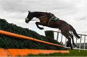 30 April 2021; Covert Field jumps the third after parting company with jockey Harry Swan during the Paddy Power Hunters Steeplechase during day four of the Punchestown Festival at Punchestown Racecourse in Kildare. Photo by Harry Murphy/Sportsfile