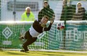 30 April 2021; Bray Wanderers goalkeeper Brian Maher warms up before the SSE Airtricity League First Division match between Bray Wanderers and Cork City at Carlisle Grounds in Bray, Wicklow. Photo by Matt Browne/Sportsfile