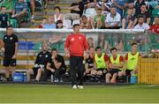 12 July 2013; Derry City manager Declan Devine. Airtricity League Premier Division, Shamrock Rovers v Derry City, Tallaght Stadium, Tallaght, Co. Dublin. Picture credit: Barry Cregg / SPORTSFILE