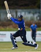 1 May 2021; Andy McBrine of North West Warriors hits a boundary during the Inter-Provincial Cup 2021 match between Leinster Lightning and North West Warriors at Pembroke Cricket Club in Dublin. Photo by Brendan Moran/Sportsfile